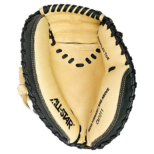 All-Star Comp 31.5 Zoll CM1011 Youth Baseball Catchers Mitt, Black|Tan, 31.5 inch