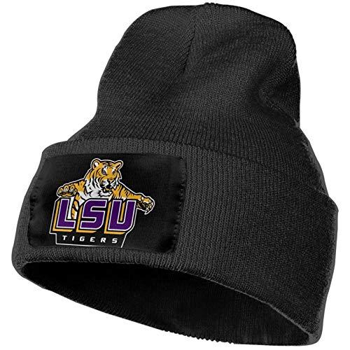 Unisex LSU Winter Hats Skull CapsKnit Hat Cap Beanie Cap Plain Winter Warm Ski Caps for Men/Womens