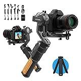FeiyuTech AK2000C Cardán para cámara, estabilizador DSLR Estabilizador de cámara de Mano de 3 Ejes hasta 2,2 kg para Canon 6D 5D Panasonic GH4 GH5 / GH5S GX9 GF9
