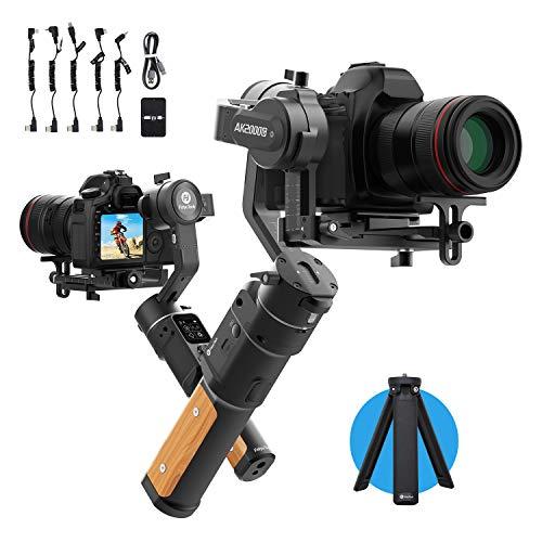 FeiyuTech AK2000C Gimbal per fotocamera, Stabilizzatore DSLR Stabilizzatore per fotocamera portatile a 3 assi fino a 2,2 kg per Canon 6D 5D Panasonic GH4 GH5 / GH5S GX9 GF9