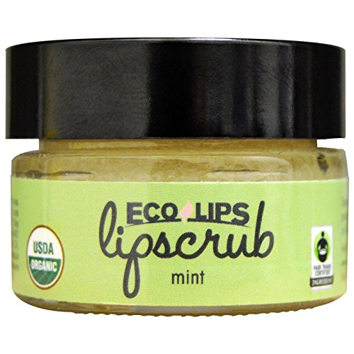 Ecolips Ecolips Organic Lip Scrub, Mint, 0.5 Ounce