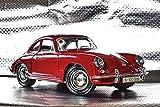 Artland Qualitätsbilder I Wandtattoo Wandsticker Wandaufkleber 30 x 20 cm Fahrzeuge Auto Digitale Kunst Bordeauxrot C8YC Klassiker Der Porsche 356