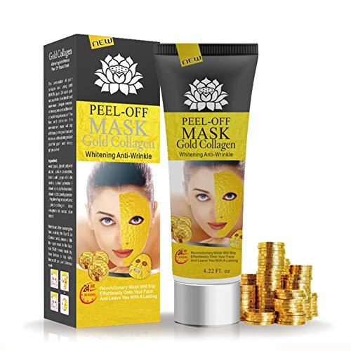 Wheey 24k Gold-Gesichtsmaske Mitesser Entferner Akne-Behandlung Peel-Off-Maske Gesichtstiefenreinigung Pore Hautpflege Shrink