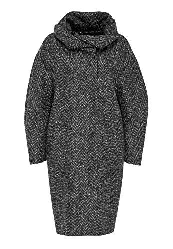 HALLHUBER Fischgrat Damen Mantel in O-Shape grau (36)
