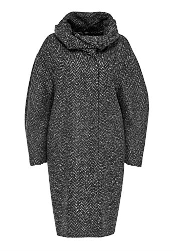 HALLHUBER Fischgrat Damen Mantel in O-Shape grau (38)