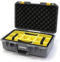 Silver & Yellow Pelican 1485 Air case with Yellow dividers.