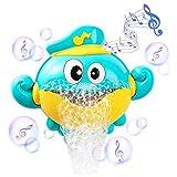 Shhjjyp Baby Bath Toy Burbuja Cangrejo Bubble Maker Bubble Blower Máquina De Burbujas con 12 Canción De Cuna Bañera De Burbujas Juguetes para Bebé Niños De Los Niños 1 Set