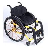 Ancianos Discapacitados Ocio Silla Deportiva Plegable, Silla de Transporte de Aluminio...