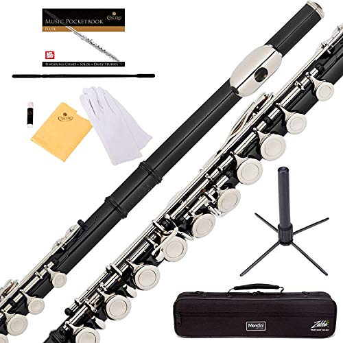 Mendini Flauta Transversal Negra/plata - 1 Año Garantía