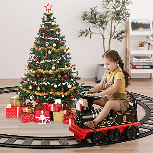 Product Image of the TEMI Ride On Train with Track Electric Ride On Toy w/ Lights & Sounds Storage...