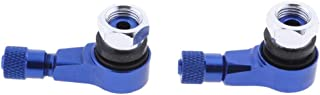 CNC Adaptor Motorcycle Tire Stem Extender Tyre Valve Extension Blue