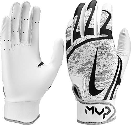 Nike Hyperdiamond Edge Baseball Handschuhe, Batting Gloves - weiß/schwarz Gr. S