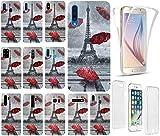 KUMO Hülle für Samsung Galaxy S9 Plus Handyhülle Motiv 1107 Eifelturm Paris Frankreich Premium Hülle Silikon Fullbody 360 Grad R&um SchutzHülle Softcase HandyCover Hülle für Samsung Galaxy S9 Plus