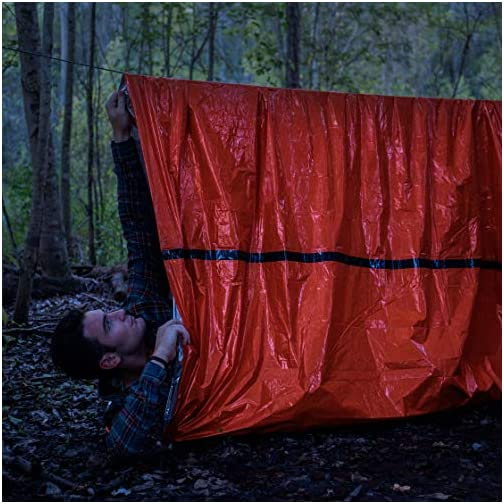Back 40 Outfitters Emergency Tent and Emergency Bivy Sleeping Bag - Ultralight Survival Tent • 2 Person Mylar Emergency… 5