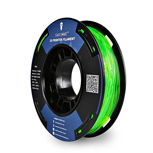 SainSmart - TPU-GRN-0.25KG1.75 SAINSMART 1.75mm 250g Flexible TPU 3D Printing Filament, Dimensional Accuracy +/- 0.05 mm (Green)