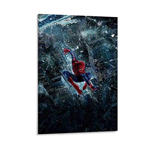 Ghychk Póster de Spider-Man Lejos de casa, pintura al óleo, obras de arte para sala de estar, dormitorio, listo para colgar, 20 x 30 cm