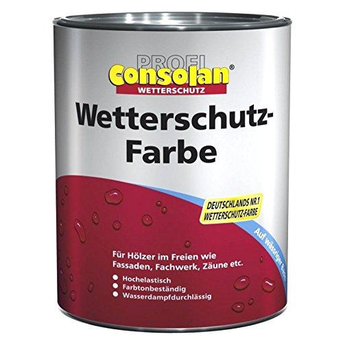 2,5 Liter Profi Consolan Wetterschutzfarbe Weiß