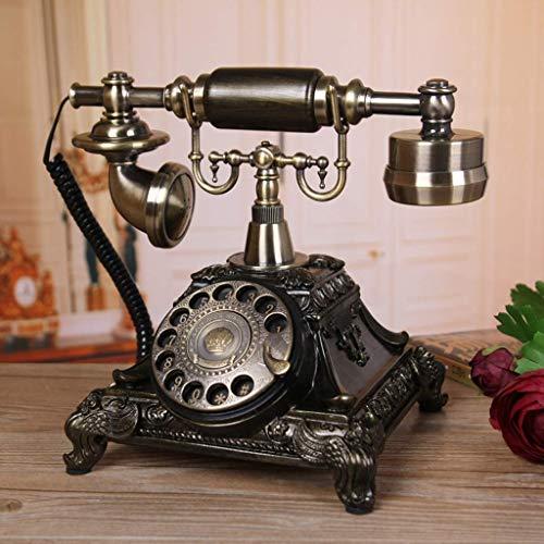 FHISD Teléfono móvil Retro, teléfono de marcación giratoria/teléfono de Estilo Retro Teléfono Antiguo Hogar Sala de Estar Dormitorio Creativo Retro Fijo -246210210mm