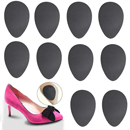 Non-Slip Shoes Pads (Black 5pairs) Self-Adhesive Shoe Grips Rubber Anti-Slip Shoe Grips Sole Stick Protector (Black 5pairs)