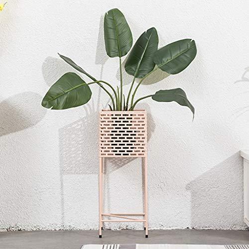 AJZGFStand d'extérieur pour plantes d'intérieur Support à fleurs nordique   support de fleurs en fer forgé (Color : Pink)