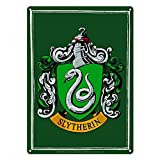 Pritties Accessories Placa de acero para puerta de pared de Harry Potter Slytherin House Crest pequeño A5