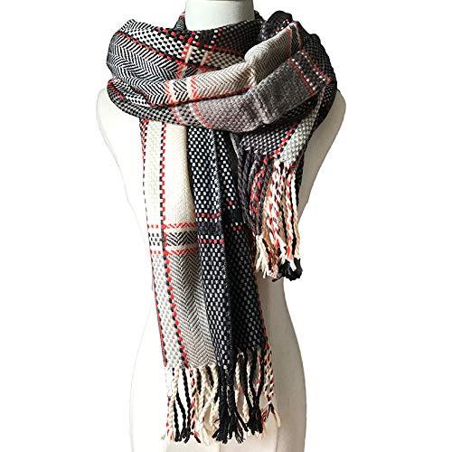 KINMB Herfst en winter British College wind mannelijke dames paar plaid sjaal sjaal, bruin