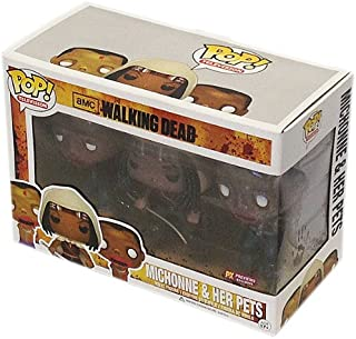 Funko Pop Television Walking Dead Michonne (Mudd) and Pet Zombies Glow in the Dark (3-Pack)