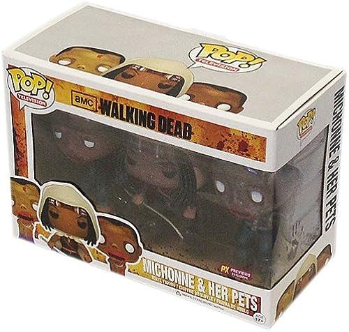[UK-Import]Walking Dead Michonne & Glow-In-Dark Pet Zombies Pop  Vinyl Figure