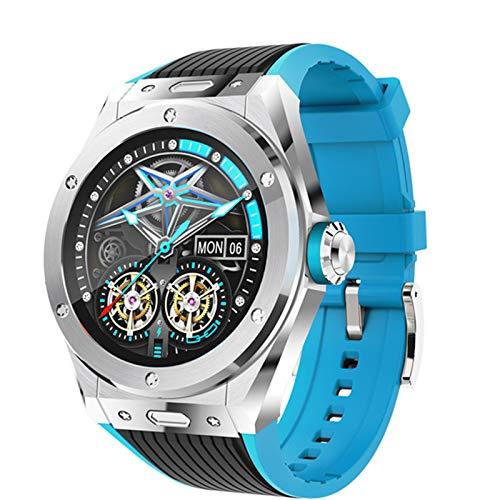 MV58 Smart Watch Men's Luxury Bluetooth Call Cuerpo Temperatura Deportes Smart Heart Rate Presión Arterial Reloj De Presión Arterial para Android iOS,A