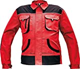 Stenso Des-Emerton - Chaqueta de Trabajo Multiusos para Hombre - Codos Reforzados - Rojo - 48