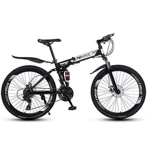 ZTYD - 26 pulgadas, 27 velocidades, bicicleta de montaña para adultos, aluminio ligero, suspensión frontal, horquilla de suspensión, freno de disco