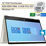 "2020 HP Pavilion x360 2-in-1 14"" FHD Touchscreen Laptop Computer, Intel Quad-Core i5-1035G1, 8GB DDR4 RAM, 512GB PCIe SSD, Windows 10, iPuzzle DVD Extension, Online Class Ready, Webcam, Microphone"