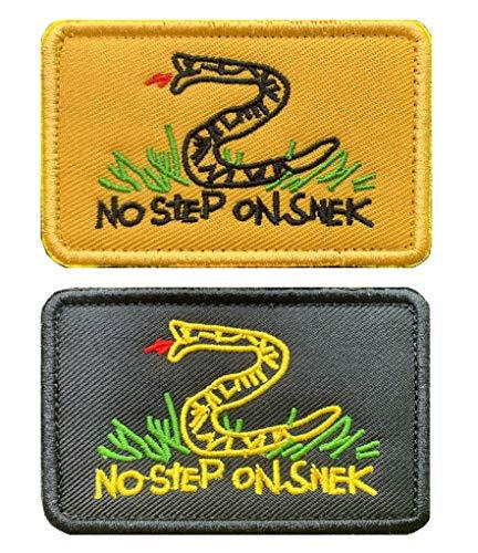 Antrix 2 Pcs Tactical No Step Snek Emblem Patch Military Badge Emblem Patch Hook & Loop Snek Patches for Backpacks Caps Hats Bags Military Uniform