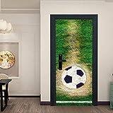 CKIQ Fußballtor Kreative Tür Aufkleber Für Jungen Schlafzimmer Selbstklebende Vinyltür Renovierung Tür Wandhauptdekor DIY Tapeten,77x200cm