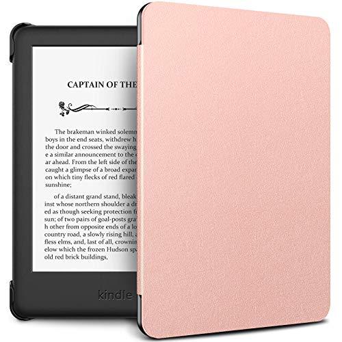 INFILAND Estuche Kindle 2019 (10ª generación - Modelo 2019) - Función de Despertador/Reposo automático - Estuche de Cuero Ultra Delgado y liviano para Amazon Kindle 2019 - Rosa Dorado