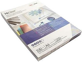 GBC BCP20CLR100 Binding Cover, A4 200 Micron Clear PK100