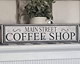 Tamengi Coffee Sign, Main Street Coffee Shop, Rustic Coffee Sign, Coffee bar Sign, Farmhouse Decor, Kitchen Decor, Cottage Decor