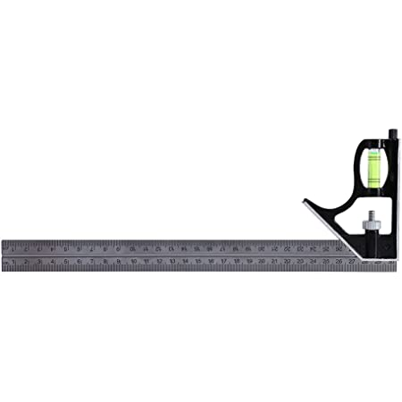Combination Angle Ruler,300mm 12inch Stainless Steel+Zinc Alloy Adjustable Right Angle Ruler Professional Engineer Measuring Tool with Clear and Accurate Calibration