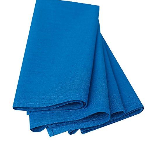 Linenme Paula Lot de 4 serviettes en coton et lin Piscine 49 x 49 cm