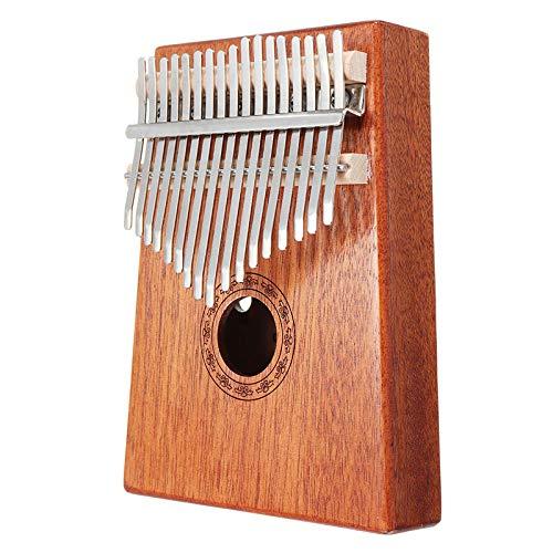 ABMBERTK 17 Tasten Kalimba Daumen Klavier, hochwertiges Holz Mahagoni Musikinstrument, mit Lernbuch Tune Hammer, Holz