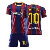 Xiongdeisix 20-21サッカーユニフォームバルセロナサッカーユニフォームメンズサッカーユニフォームNo. 10メッシ (Color : 10, Size : Medium)