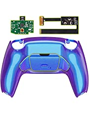 eXtremeRate Chameleon Paars Blauw Programmeerbare RISE Remap Kit voor P S 5 Controller, Upgrade Board & opnieuw ontworpen Back Shell & Back Knoppen Bevestiging voor playstation 5 Controller - Controller NIET Inbegrepen
