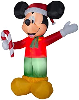 Disney 8.99-ft Lighted Christmas Mickey Mouse Holding Candy Cane Inflatable