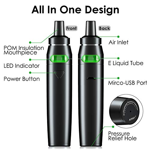 Vape Pen Svapo Sigaretta Elettronica con Child Lock, Top Refill Atomizzatore con 2 pz 1,0 ohm Resistenza, Batteria integrata 18600 mAh 18650, Vaporizzatore Sigaretta Elettronica, Prodotto no nicotina
