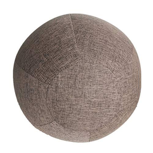 Fransande - Manta de pelota de yoga, 55 cm, resistente al agua, de lino, para yoga, gimnasio, entrenamiento, color marrón