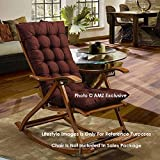 AMZ Exclusive Soft Rocking Chair Cushions Home Cotton Cushion Long Chair Pad (48 x 16 inches,Set of 1) (48 x 16 Inches, Chocolate Brown)