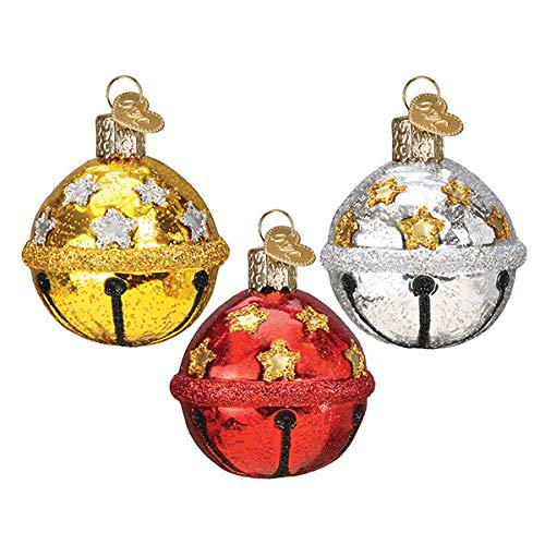 Old World Christmas Ornaments Jingle Bell (A) Glass Blown Ornaments for Christmas Tree