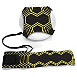 Football Kick Trainer Soccer Training Aids Hands Free Throw Sole Practice Equipment for Kids with Adjustable Belt Elastic Rope Fits Ball 3, 4,and 5