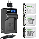 Kastar 3-Pack KLIC-7006 Battery and LCD AC Charger Compatible with Kodak KLIC-7006 LB-012 Battery and Charger, Kodak PixPro FZ51 (KDK-FZ-51BL), PixPro FZ52, PixPro FZ53, PixPro SL5 Smart Lens Cameras
