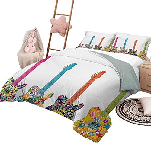 Quilt Set Polka Dots 3-teilige Tagesdecken Bettdecke Vintage Featured Striped Pattern mit Tupfen Regular Circles Retro Theme Artprint Green